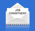 Job commitment with an envelope information Stock Image
