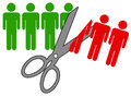 Job cuts getting laid off concept Royalty Free Stock Photography