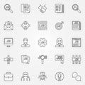 Job icons set