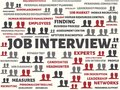 JOB INTERVIEW - image with words associated with the topic RECRUITING, word, image, illustration Royalty Free Stock Photo