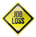 Job loss sign Royalty Free Stock Photos
