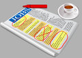 Job opportunity jobs newspaper and coffee eps Stock Photos