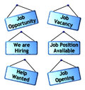 Job opportunity signs illustration of opportunies Royalty Free Stock Photos