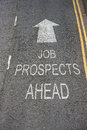 Job Prospects Ahead Royalty Free Stock Photography