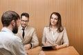 Job recruitment interview Royalty Free Stock Photo