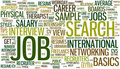 Job search wordcloud Royalty Free Stock Photos