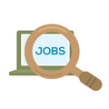 Job searching in computer vector illustration Stock Photos