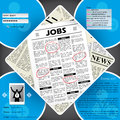 Job seekers website template design Stock Photos