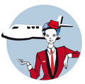 Job series - stewardess Royalty Free Stock Images