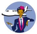 Job series - stewardess Royalty Free Stock Image