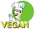 JOB SERIES vegan cook Royalty Free Stock Images
