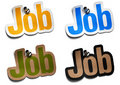 Job stickers Royalty Free Stock Images