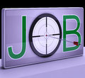 Job target shows employment occupation profession showing and professional career Royalty Free Stock Photo