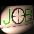 Job target shows work and karriere berufung Stockfotografie