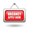 Job vacancy signboard