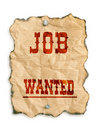 Job wanted Royalty Free Stock Photo