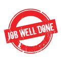 Job Well Done rubber stamp Royalty Free Stock Photo