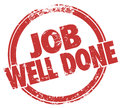 Job Well Done Stamp Words Task Performance Review Royalty Free Stock Photo