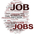 Job word cloud Stock Photo