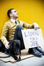 Jobless man Royalty Free Stock Photo