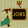 Jobs design over lineal background vector illustration Royalty Free Stock Photography