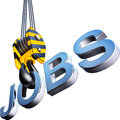 Jobs find a job d illustration Royalty Free Stock Photos