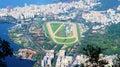 Jockey club brasileiro brazil rio de janeiro mountain view from mount corcovado and hipodromo da gavea Royalty Free Stock Photography