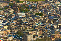 Jodhpur india the blue city of rajasthan blue houses were originaly reserved to the brahims the color of the houses is du to the Stock Images