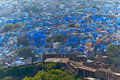 Jodhpur india the blue city of rajasthan blue houses were originaly reserved to the brahims the color of the houses is du to the Royalty Free Stock Images