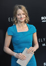 Jodie foster los angeles ca august at the world premiere of her movie elysium at the regency village theatre westwood Royalty Free Stock Photography