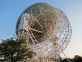 Jodrell bank cheshire view of telescope taken from the rear summer evening Stock Images