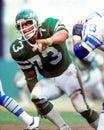 Joe klecko new york jets star defensive lineman image taken from color slide Stock Photography