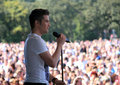 Joe McElderry at Bents Park Royalty Free Stock Photography