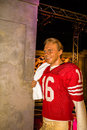 Joe montana madame tussauds wax statue of las vegas nevada Royalty Free Stock Photo