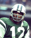 Joe namath new york jets former qb and hall of famer image taken from color slide Stock Photography