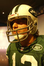 Joe namath wax figure a of football player at madame tussauds in new york city Stock Images