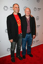 Joel fields joe weisberg new york oct producer l and writer attend the americans during paleyfest made in new york at paley center Stock Image