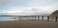 Joemma Beach State Park Pier and Boat Dock on the Puget Sound near Tacoma Washington Royalty Free Stock Photo