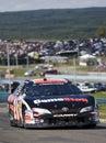 Joey Logano on the track Royalty Free Stock Photo