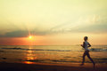 Jog on the beach Royalty Free Stock Photo