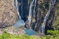 Jog waterfalls in southern india or joga falls a wonder of nature falling over feet into the reservoir below it is the fifth Stock Photography