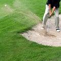 Jogador de golfe na a��o Imagens de Stock Royalty Free