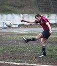 Jogadores do rugby na ação Imagens de Stock Royalty Free