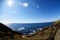 Jogashima coas scenery with views of the oshima and the boso peninsula Stock Images