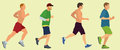 Joggers and runners men jogging or running in a race Stock Image