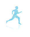 Jogging human silhouette Royalty Free Stock Photos