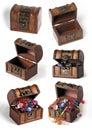 Jogo das caixas de tesouro Imagens de Stock