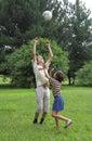 Jogo dos meninos com cápsula Imagem de Stock Royalty Free