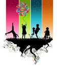 image photo : Kids playing