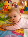 Jogo pequeno do bebê Fotos de Stock Royalty Free